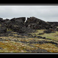 Öndverðarnes - Plate of an ancient lava flow breaking: we feel very small